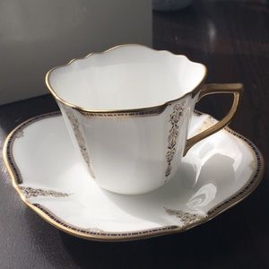 VTG Japanese fine born china cappuccino and saucer